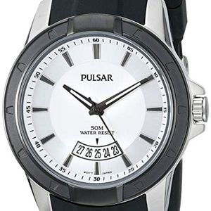 Pulsar On The Go Steel Silver Dial Mens Watch
